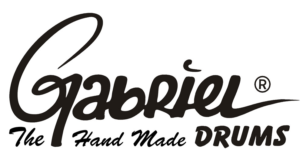 logo gabriel drums black